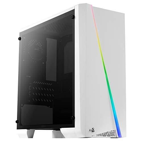 Caja PC Aerocool Cylon Mini RGB USB 3.0 con ventana blanca