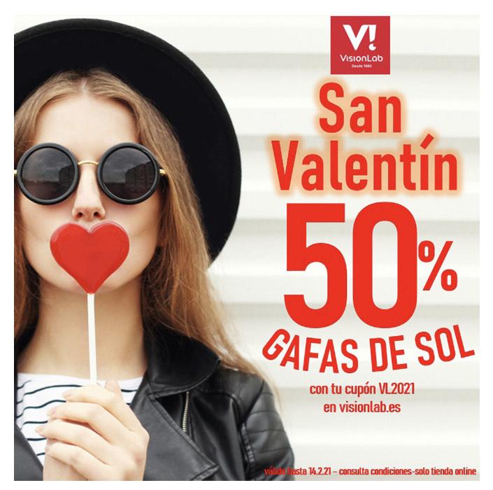 Gafas de sol al 50% en visionlab, descuento de San Valentín
