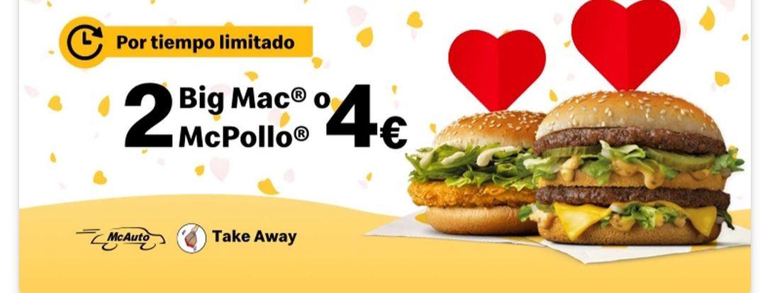 Dos Big Mac o McPollos por 4€