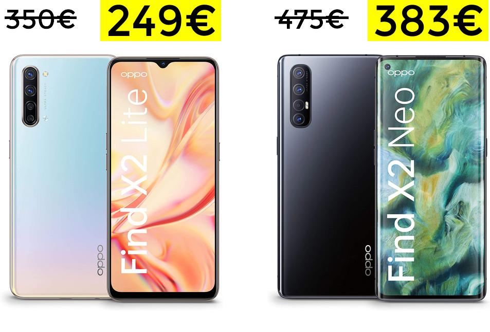 Oppo Find X2 Lite 249€ / Oppo Find Neo 383€