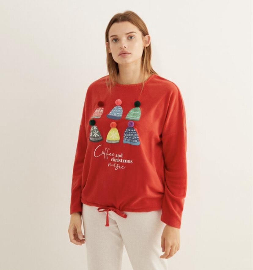 Pijama largo polar gorros talla XS