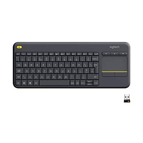 Logitech K400 Plus Teclado Inalámbrico con Touchpad Teclas Especiales Multi-Media, Ordenador/Tablet, QWERTY Español