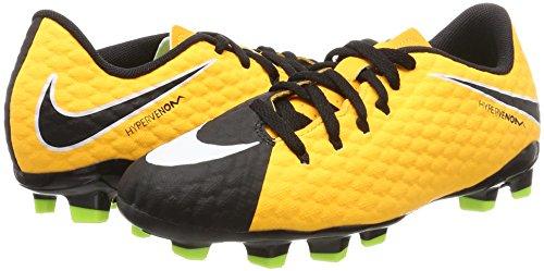 Nike Jr Hypervenom Phelon III FG Botas de fútbol, Unisex Infantil, Naranja (Laser Orange/Black/Black/Volt), 36.5 EU (4 UK)