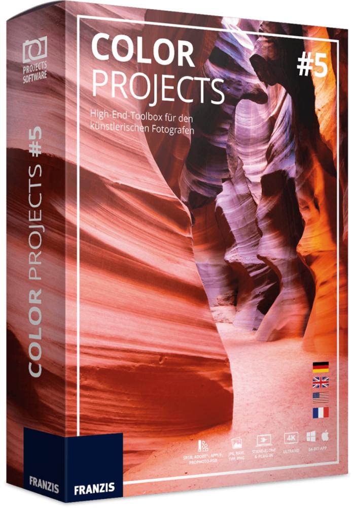 Edición Fotográfica: COLOR PROJECTS 5 (GRATIS) 1 Licencia de por vida (PC y Mac)