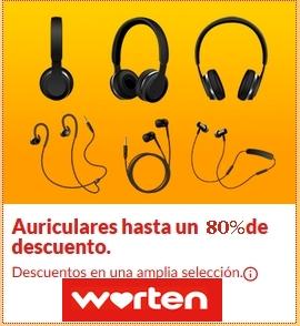 Liquidación auriculares Descuentos de hasta -73% en Worten