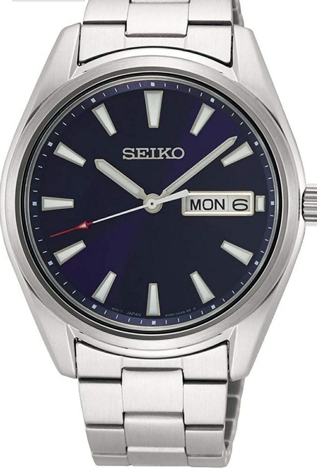 Seiko Reloj Analógico para Hombre de Cuarzo japonés con Correa en Acero Inoxidable SUR341P1