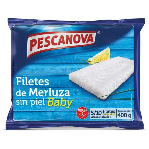 PESCANOVA filetes de merluza baby bolsa 400 gr con la tarjeta club dia