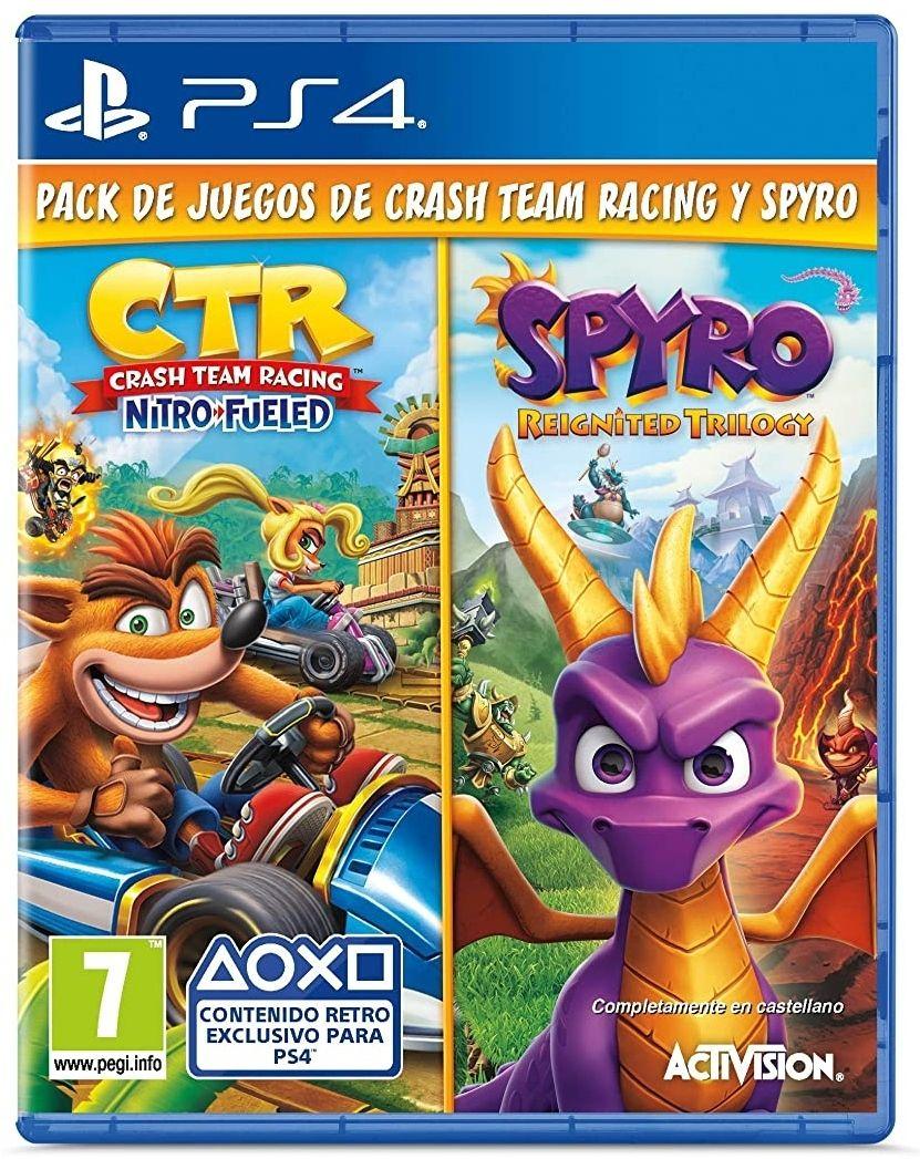 Pack físico Crash Team Racing y Spyro Reignited Trilogy para PS4 - PS5 LOS DOS JUEGOS POR 22€ CADA UNO (Exclusivo de Amazon)