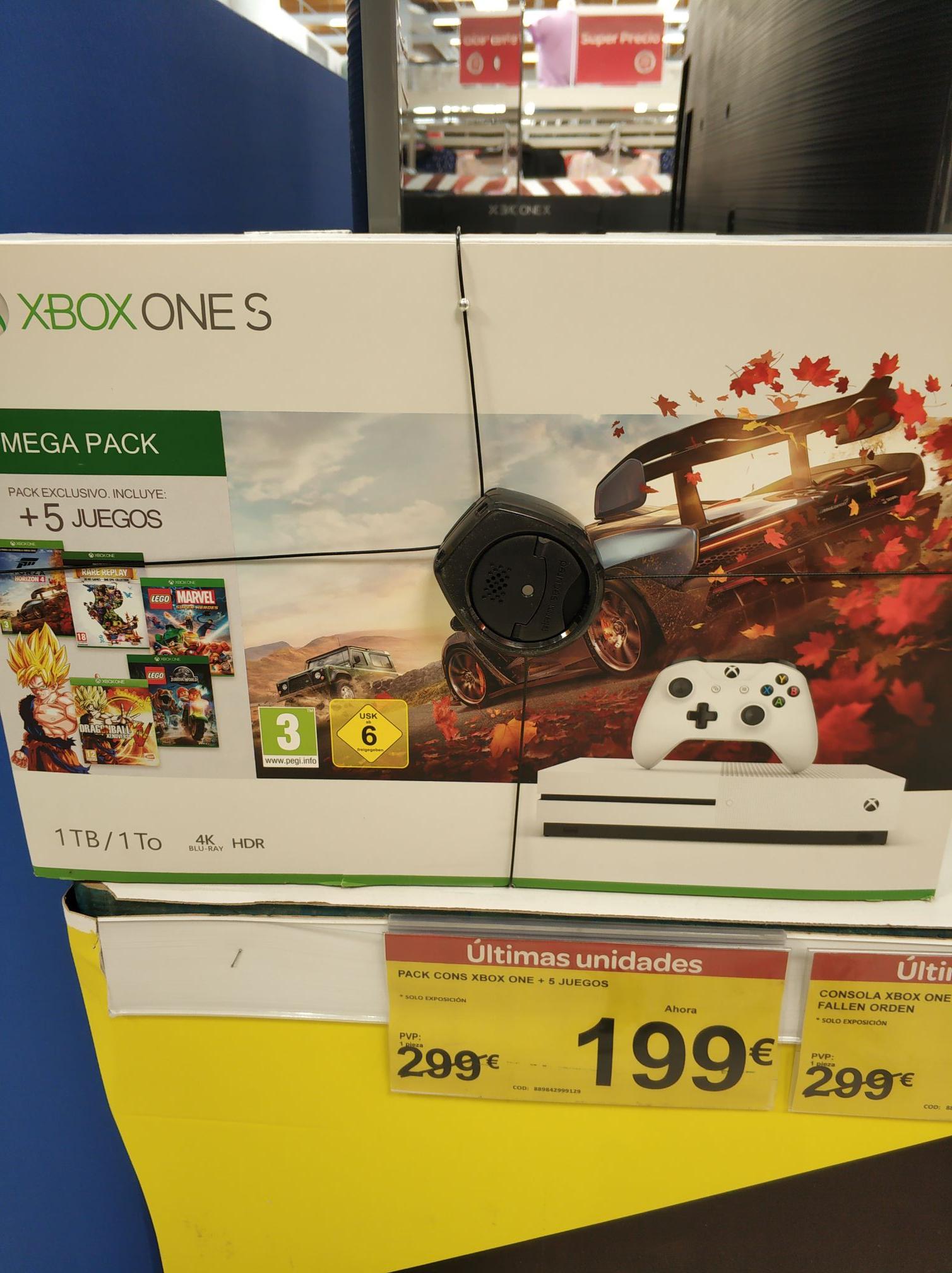Xbox one S + 5 juegos