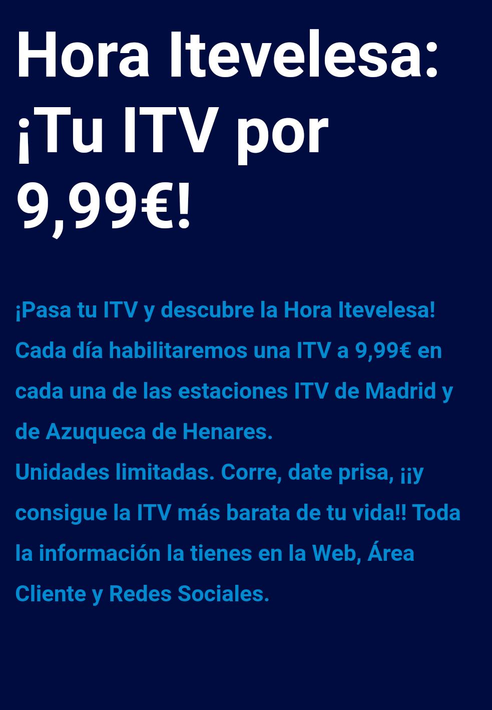 ITV desde 9,99€ red de ITV Itevelesa