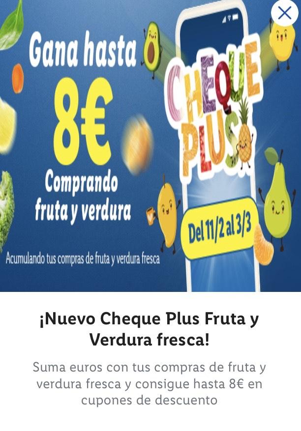 Gana hasta 8 euros comprando fruta y verdura en Lidl