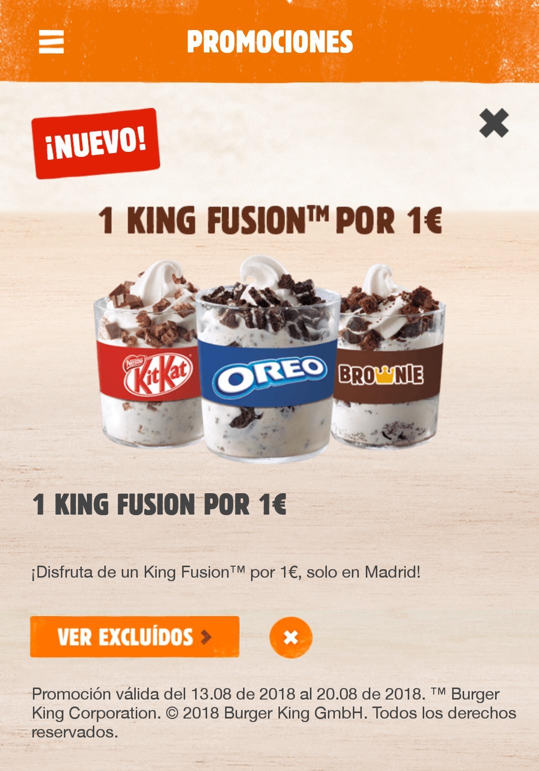 King Fusion Burger King