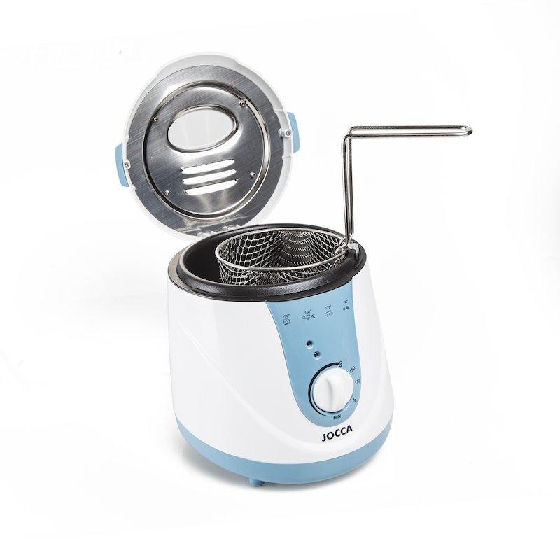 Freidora fondue 2 en 1 con accesorios y pinchos 0,7 litros