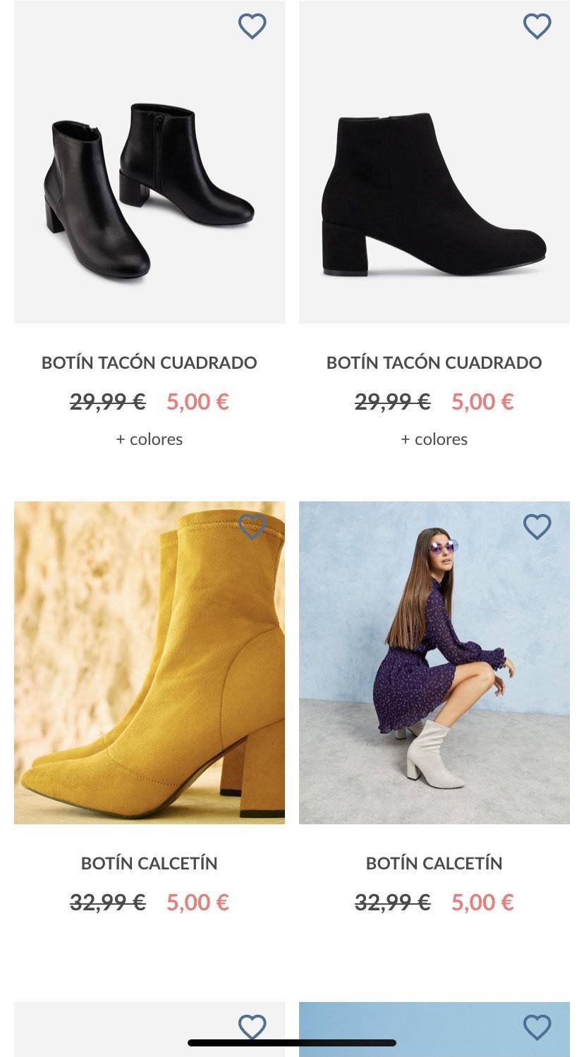 Zapatos y botines por 5€ / 10€ / 15€