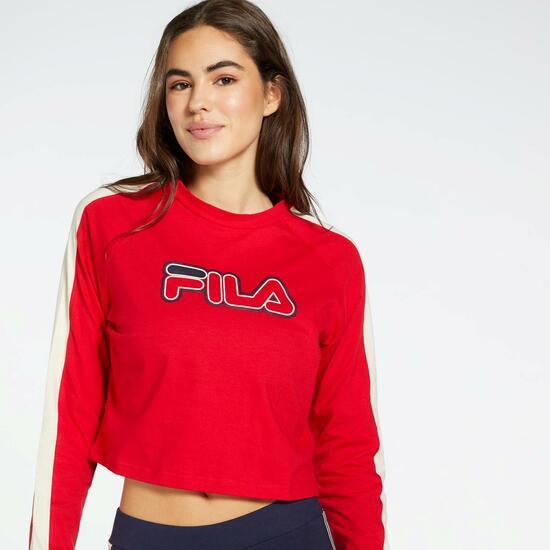 Camiseta de Mujer Fila Bridge color Rojo.