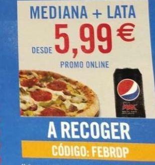 Pizza mediana + bebida