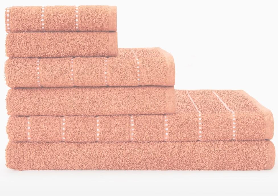 Juego de 6 toallas de baño 100% algodón(4 colores disponibles)
