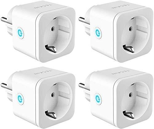 TECKIN WiFi Enchufe Inteligente 16A 3300W Mini Smart Plug. Funciona con Siri Amazon Alexa Echo, Google Home