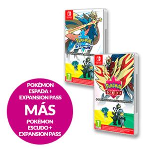 POKEMON ESPADA + POKEMON ESCUDO + EXPANSION PASS DE AMBOS