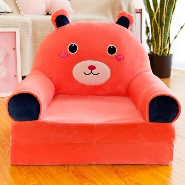 Adorable sofá plegable de animales para niños
