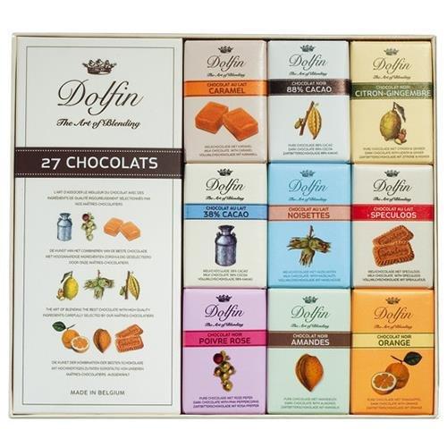 Chocolate belga Dolfin. 5 cajas de 27 unidades