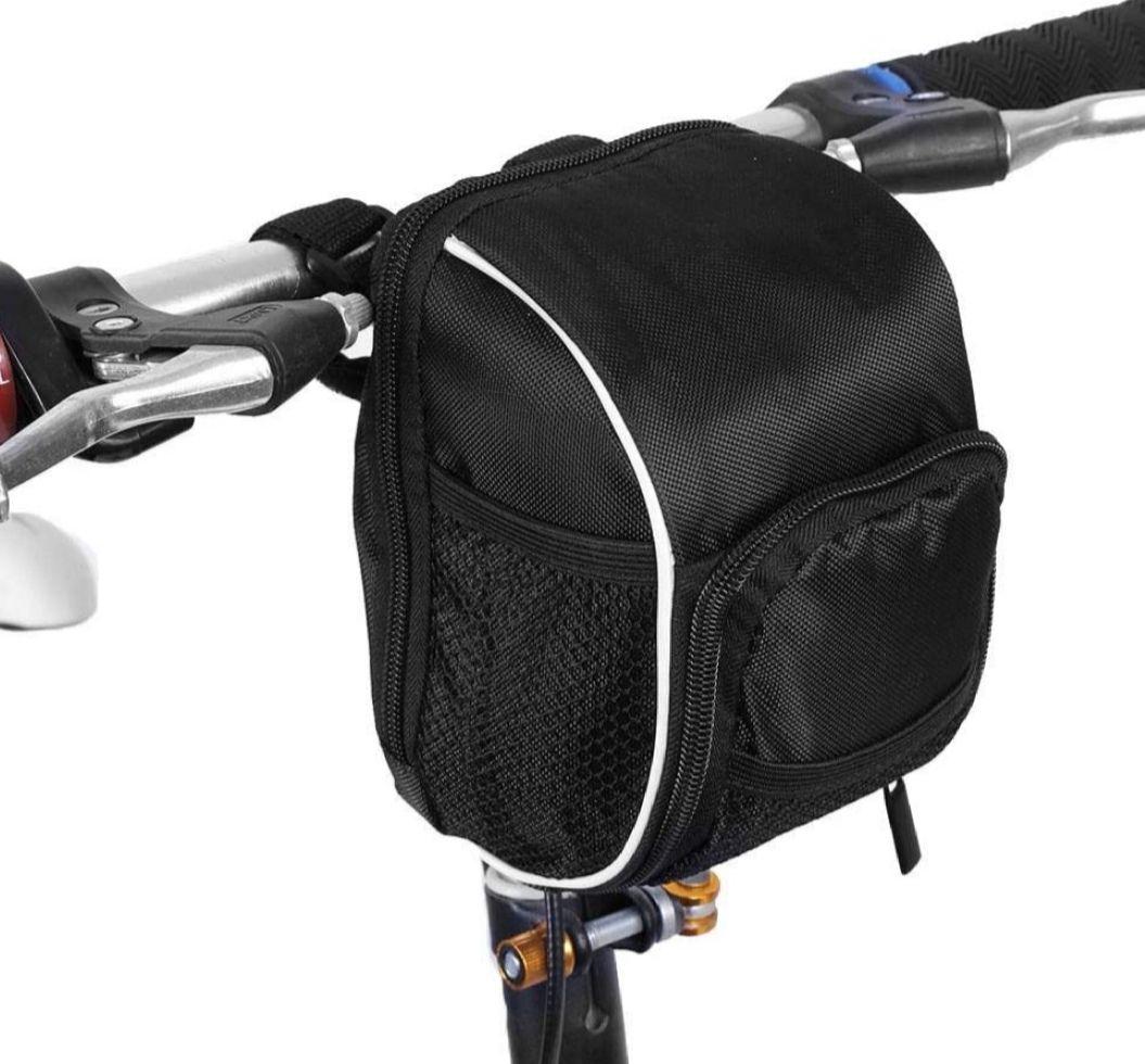 Bolsa de cuadro de bicicleta impermeable con raya reflectante