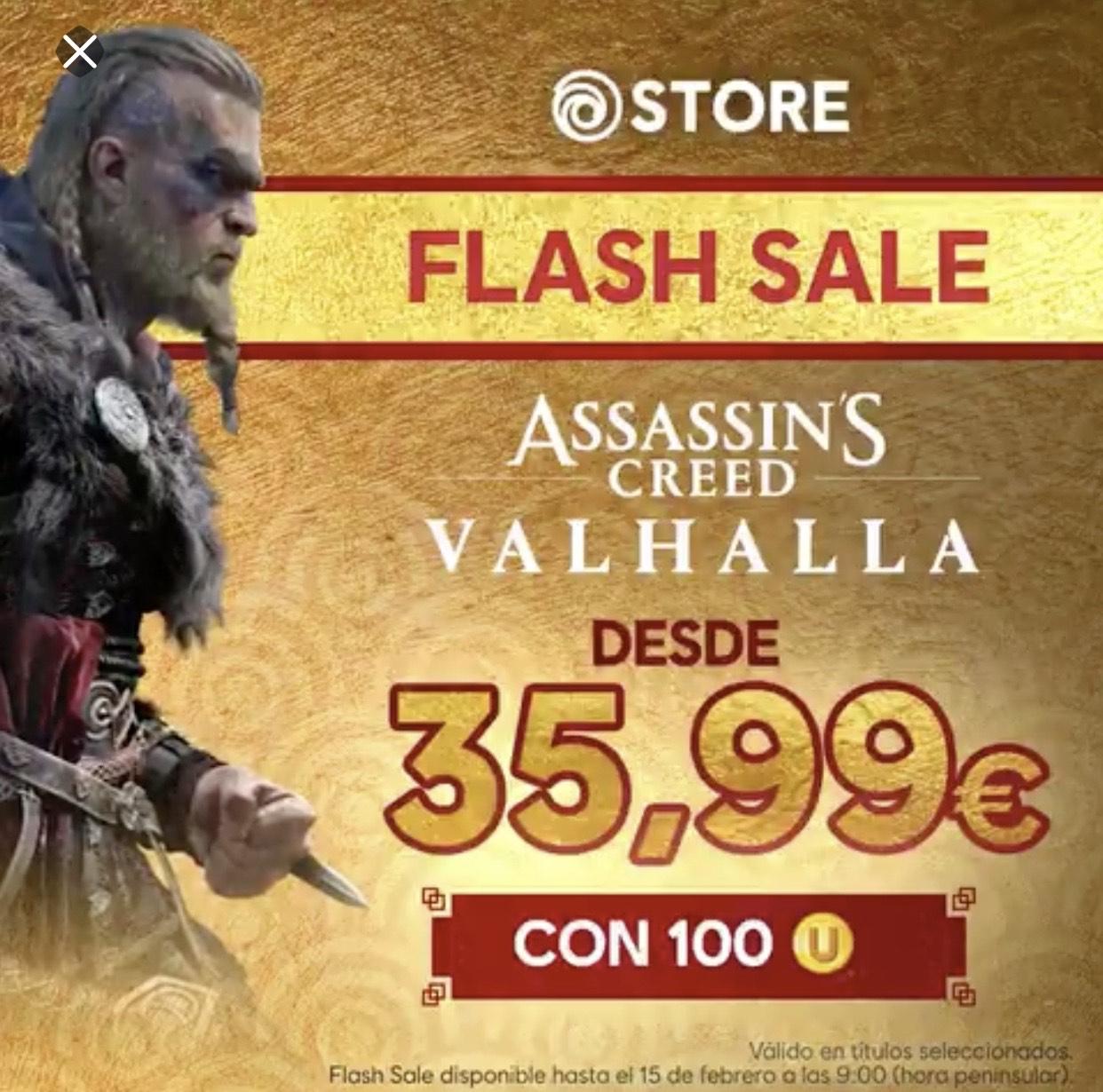 ASSASSIN'S CREED VALHALLA 20% de descuento usando 100 ubi coins