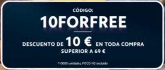 Descuento de 10 € en la web oficial de xiaomi