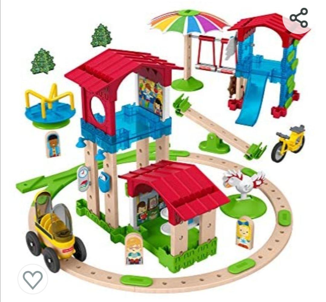 Fisher-Price Wonder Makers Mini escuela, juguetes construcción niños +3 años (Mattel GFP82)