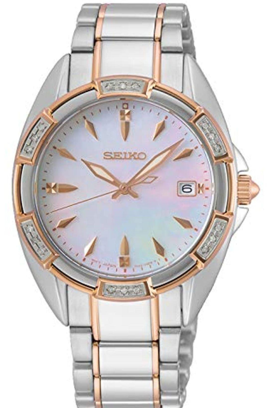 Reloj Seiko mujer con esfera madreperla y cristales de Swarovski®