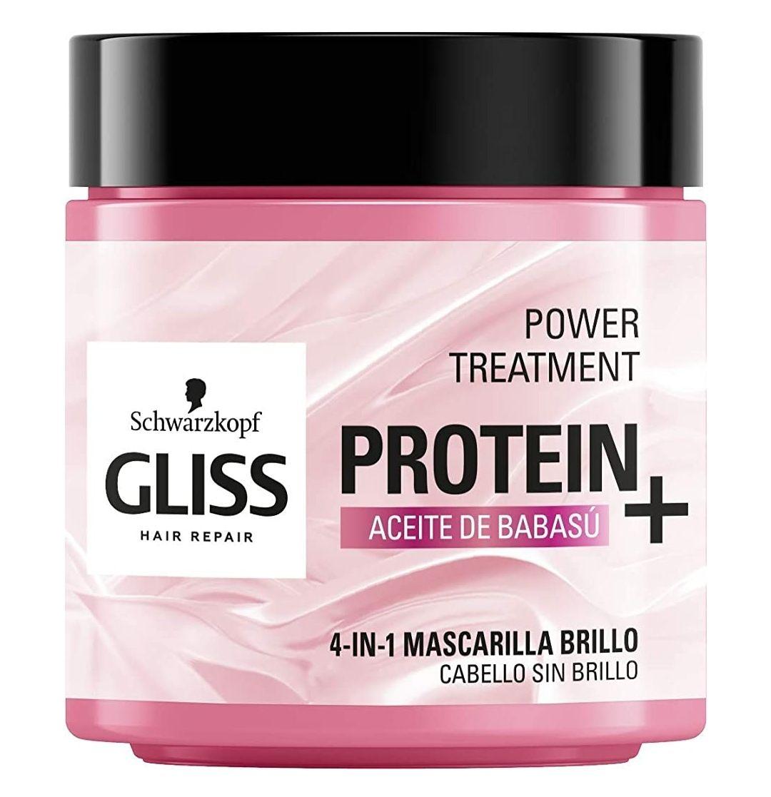 Gliss - Mascarilla Nutritiva Proteína 4 En 1 - Para cabello sin brillo - Aceite de Babassu 400Ml(+en descripción)