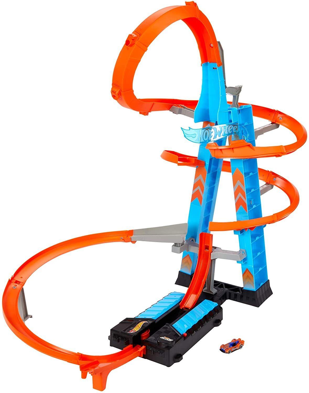 Hot Wheels - Pista y garaje para coches de juguetes