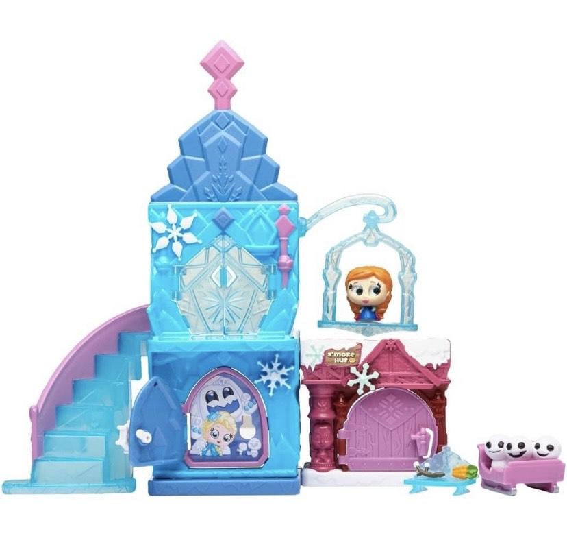 Frozen Disney - Juego de 3 figuras coleccionables con ojos de purpurina y muchos accesorio