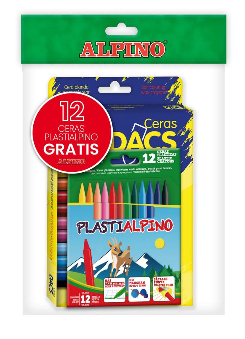 Pack de 24 ceras DACS y 12 ceras plásticas PlastiAlpino de ALPINO por sólo 3,95€