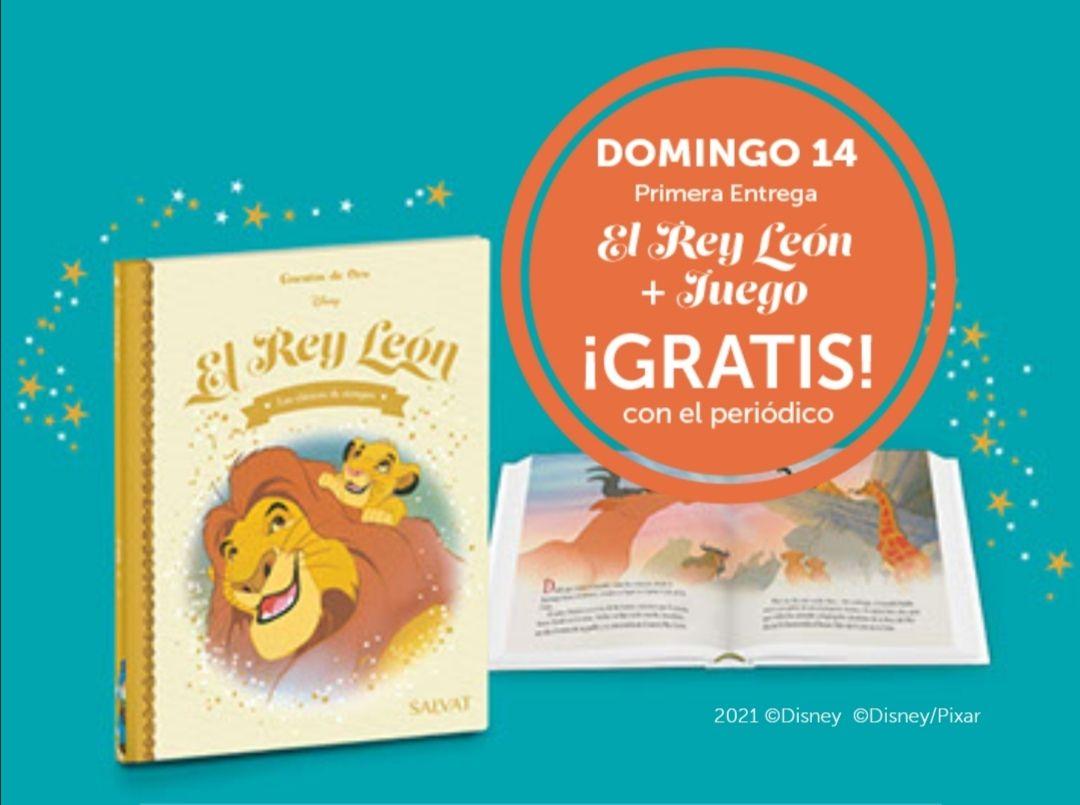 Cuento rey león + juego, gratis con marca