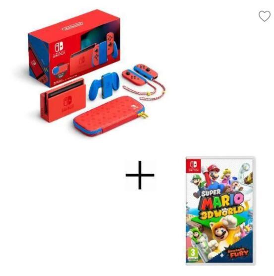 Nintendo Switch Edición Limitada Mario + Super Mario 3D World + Bowser's Fury