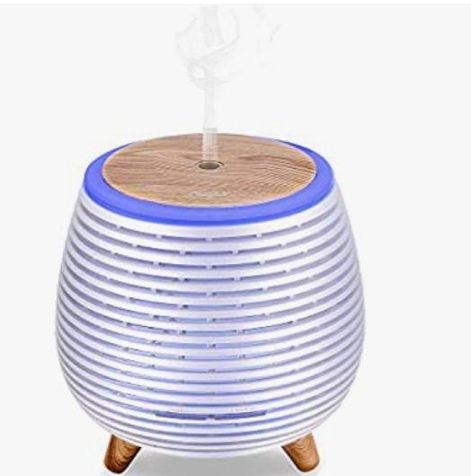 Ckeyin Humidificador Electrico,Humidificador Aceites Esenciales,Silencio, Lámpara de 7 Colores