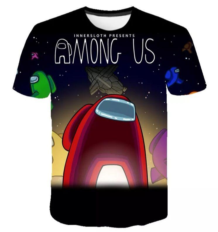 Camisetas AMONG US con estampado en 3D, varios modelos . Tallas de la 4 a la 14
