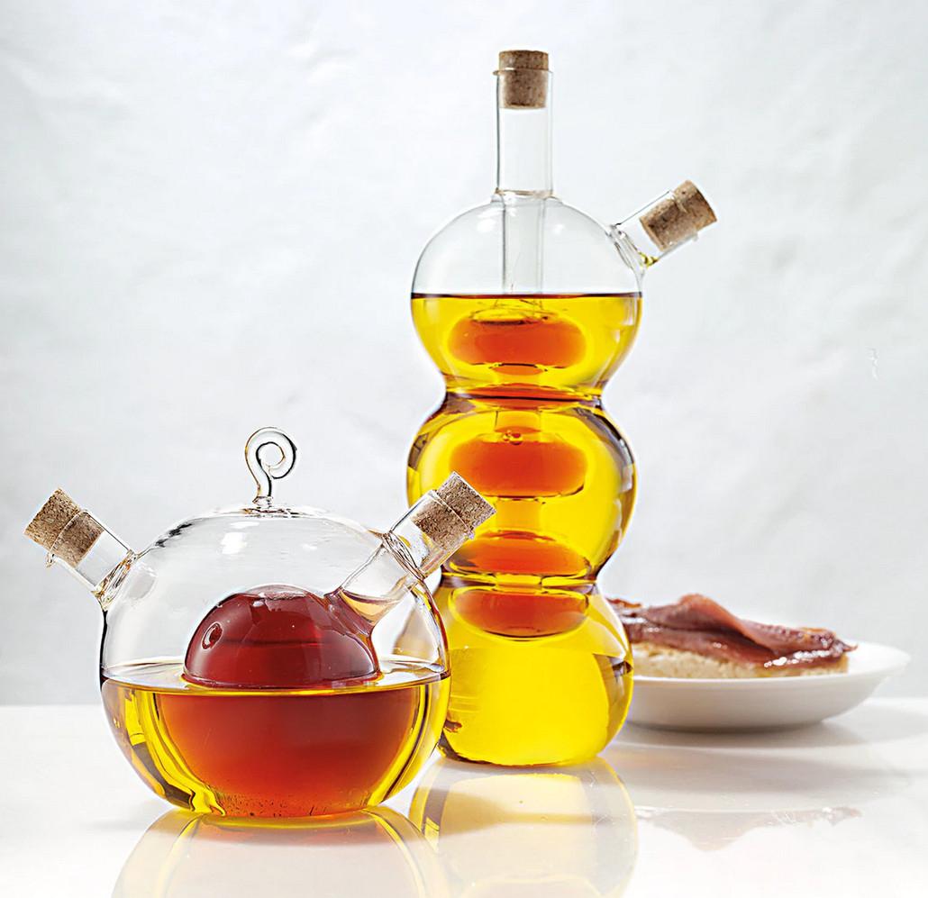 Originales Aceiteras/Vinagreras 2 en 1 con vidrio Borosilicato