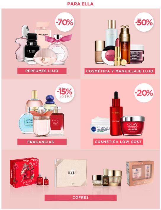 Hasta 70% DTO en productos femeninos y masculinos