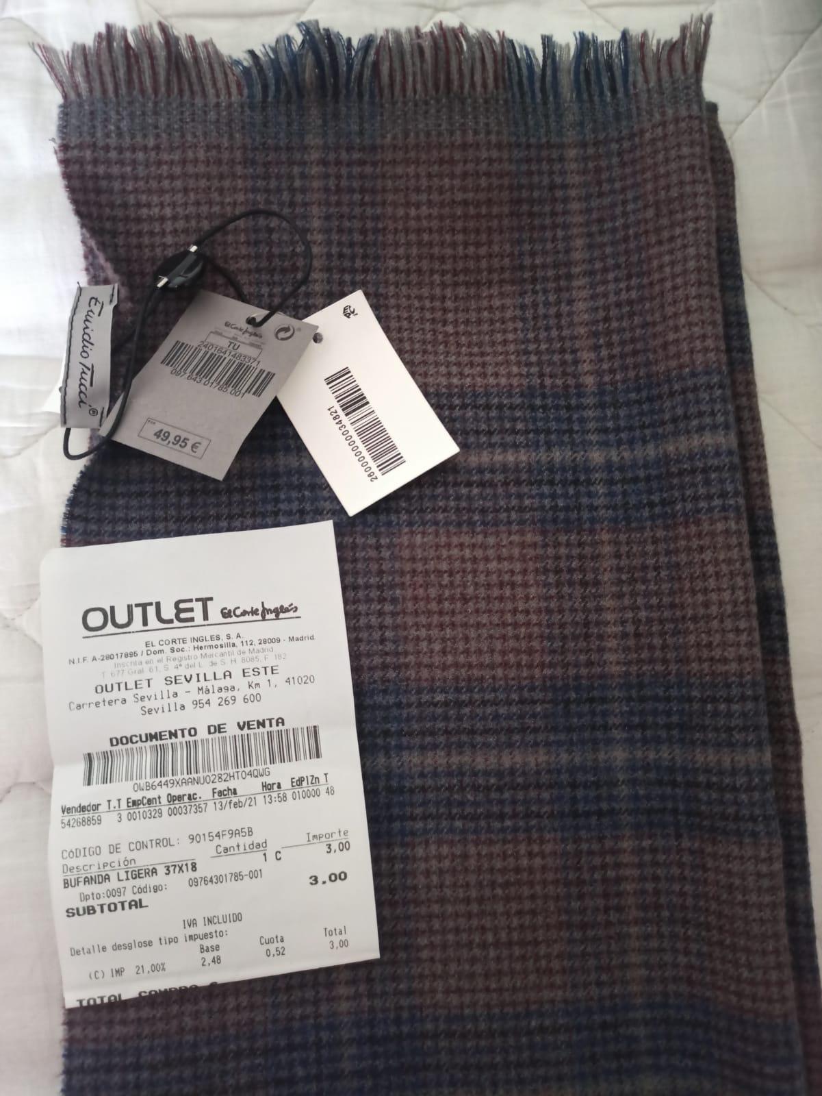 Bufanda Emidio Tucci 100% lana. Made in Italy.