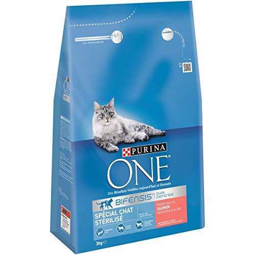 Purina one esterilizados salmón special chat (gatos), 4 x 3kg