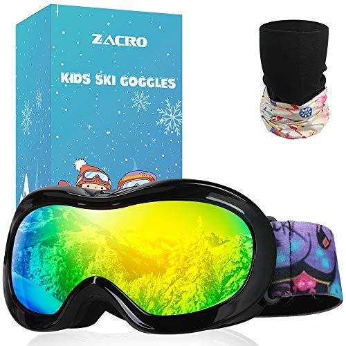 Gafas de Esquí y Snowboard, con Máscara y Bolsa Portable,OTG 100% UV400 Protección
