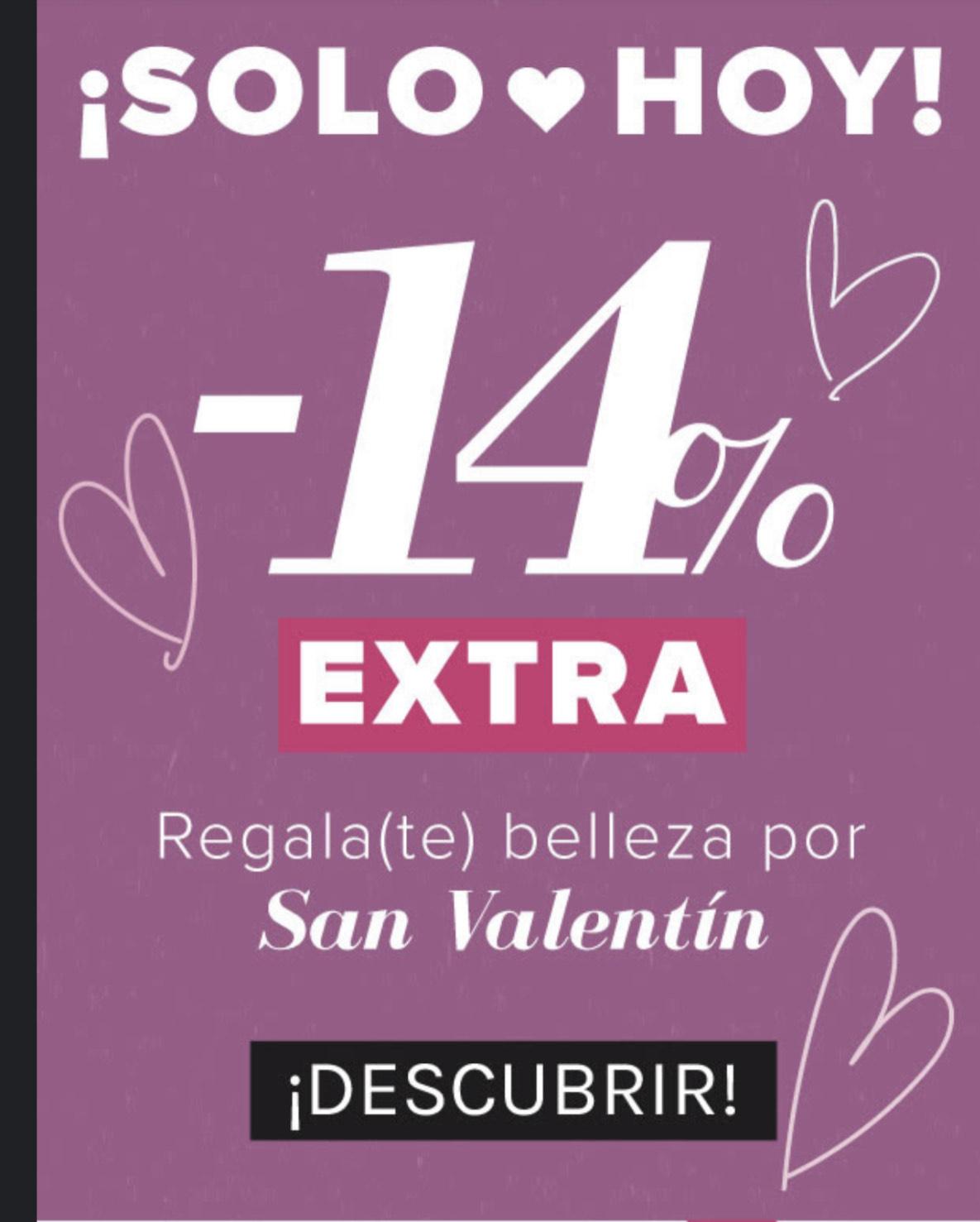 Druni-14% extra de descuento San Valentín