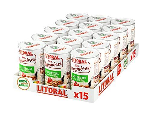 15 latas de LITORAL Hoy Lentejas con su sofrito a 0,85€/ud (al tramitar)
