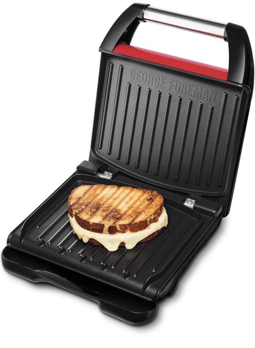 George Foreman Compact – Grill Eléctrico (Plancha Grill de 1200 W, 3 porciones