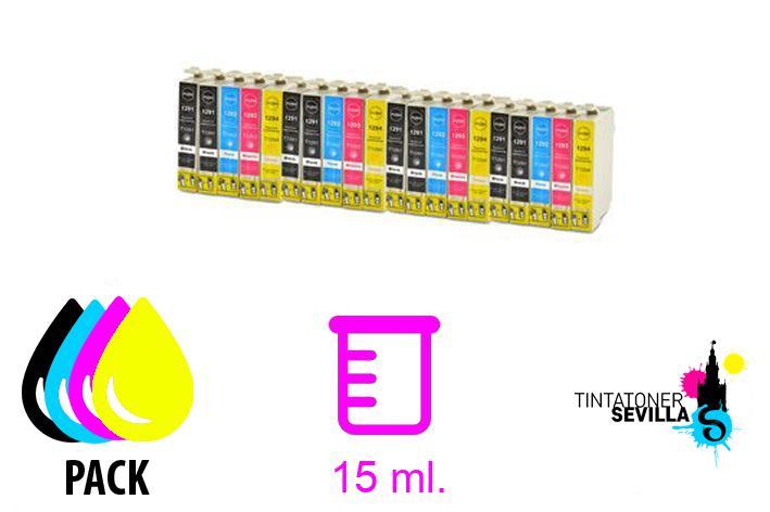 Pack de 20 cartuchos compatibles EPSON T1291