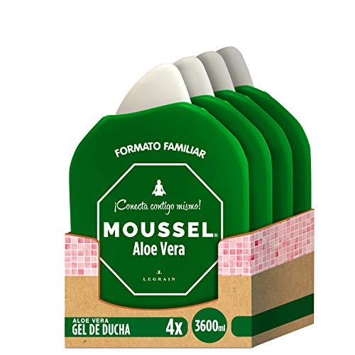 4x Gel de ducha Moussel Aloe Vera familiar