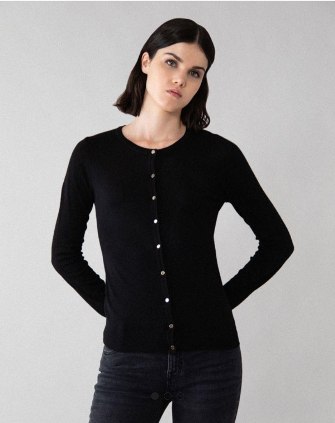 Jersey negro de punto
