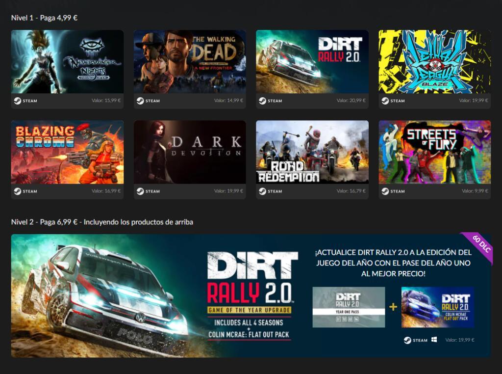Pack Steam - 8 Juegos + 1 DLC desde 4,99€ o 20 juegos por 2,99€